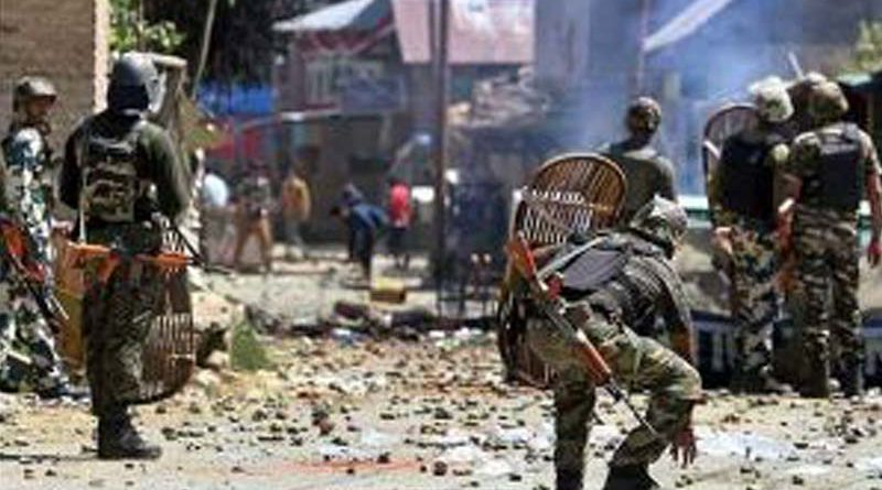Anti-india demonstrations, clashes in Pulwama