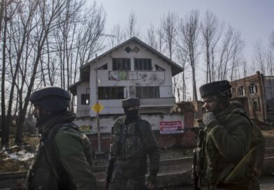 People stage protest against occupation of playground by Indian army